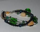 Emerald Multistrand Bracelet