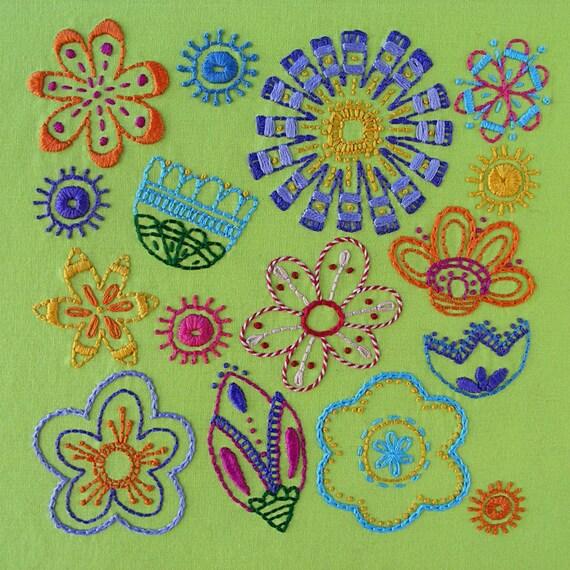 Bloom flower embroidery pattern pdf