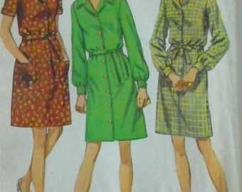 Vintage 1970s Dress Pattern-Bust 42-Simplicity 8393 FF