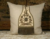 Antique French Priest's Stole Pillow