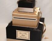 Elegant Custom Made Wedding Card Box-rhinestone trim