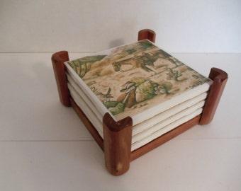 South West Art Print On Ceramic Tile Coaster