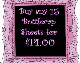 SALE Buy Any  15 Image Sheets  for 14 dollars