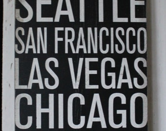 SEATTLE New York Chicago Subway Art Wall Sign
