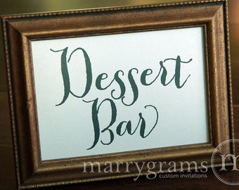 Dessert Bar Sign or Candy Buffet Station Table Card Sign - Wedding Reception Seating Signage - Matching Numbers Available SS02