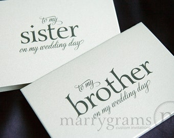 Wedding Card to Your Brother or Sister - Siblings of the Bride or Groom Cards - To My Sister In Law on My Wedding Day Card for Gift CS08