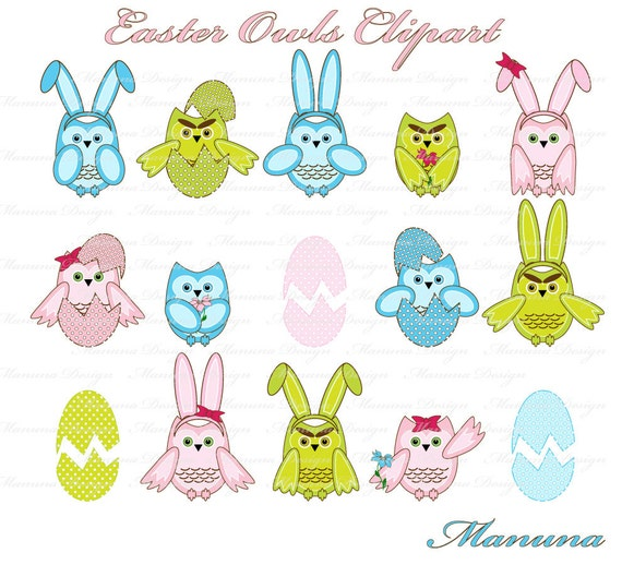free easter owl clip art - photo #46