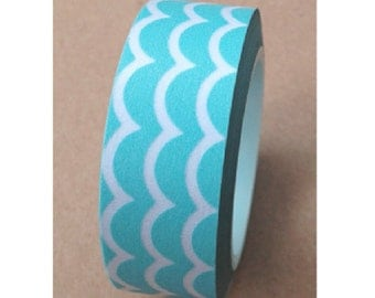 Japanese Washi Masking Tape - New Wave - Sky Blue - 11 Yards