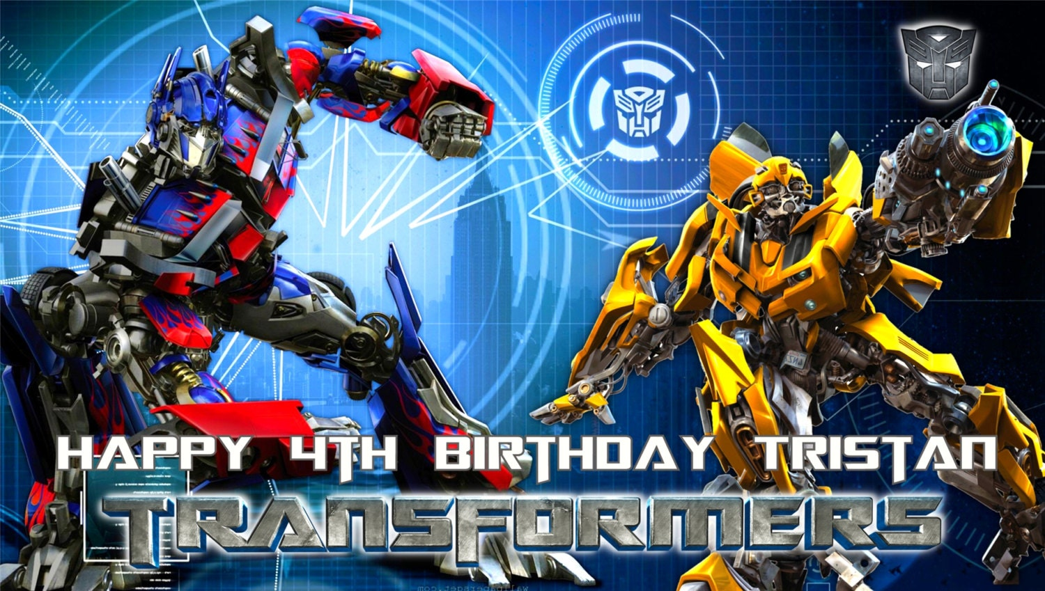 Transformers Optimus Prime And Bumble Bee Personalized Custom