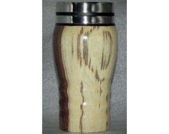 Wooden Travel Mug with Stainless Steel Liner from Wooden Illusions by Bowman