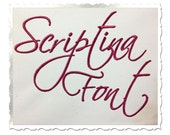 Scriptina Machine Embroidery Font Monogram Alphabet - 3 Sizes