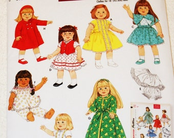 New Simplicity 18' doll Clothes Pattern 4347