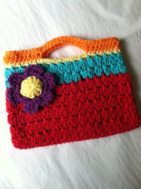 Child Purse Crochet Child Purse with Flower Crochet Purse