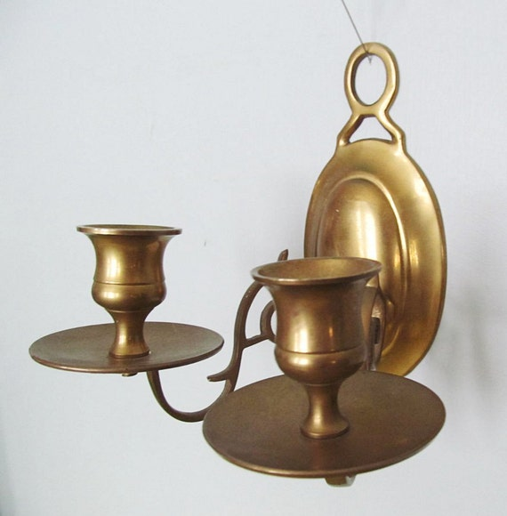 Brass Wall Sconces Candle Holders : Brass Candle Holder Wall Sconce Retro Vintage Lighting