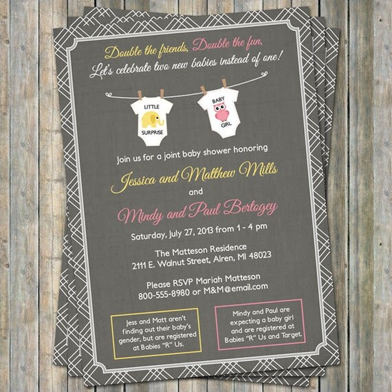 Joint Baby Shower Invitations can inspire you to create best invitation template