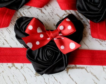 Minnie Mouse inspired Rosette Headband