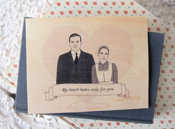Downton Abbey Card. Free Shipping