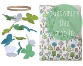 Butterfly Baby Crib Mobile - Personalised Custom