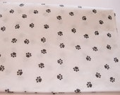 "10 Sheets of Black Small Paw Print on White Tissue Paper (20"" x 30"")"