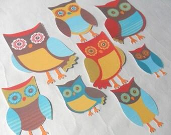 Owl Embellishments Owl Die Cuts Owl Party Favors Owl Cupcake Toppers Owl Favor Bag Toppers Owl Banner Owl Garland Bunting