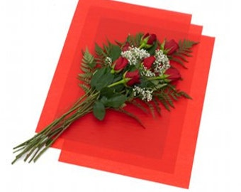 Paper tissue flowers etsy 25 large sheets red waxed floral tissue paper for flowers gifts wrapping 24x36 free mightylinksfo