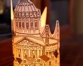 San Fransisco Sihouette Illuminated Paper lantern  - just add candles - set of 5 (Ivory/Cream)