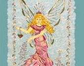 OOAK Original Fantasy Fairy Art - Fairy Dust - 8 x 10 Fine Art Giclee Print - Magical Flower Keepsake