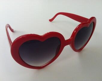 Rave Light Show Glasses - Red heart