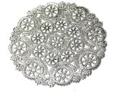 25 silver 10 inch round doilies, silver foil doilies, wedding decoration, party decoration, paper craft supply