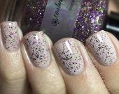 Glitter polish - Hydrangeas