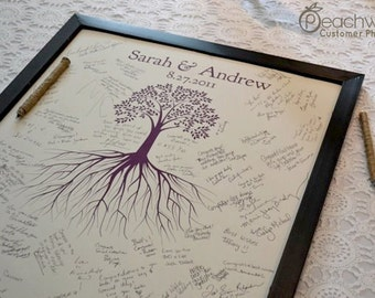 Unique Wedding Guest Book - The Rootwik - A Peachwik Interactive Art Print - Wedding Guestbook Alternative