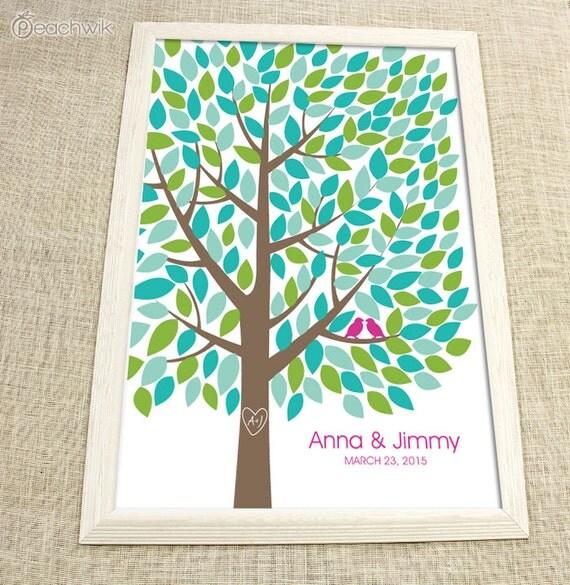 Wedding Guest Signing Tree: Wedding Guest Book Tree The Wishwik Multi Wedding By Peachwik