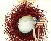 Military Wreath-AMERICANA DOOR WREATH-Patriotic Wreath-4th July Wreath-Holiday Wreath-Military Door Decor-Star Wreath-Scented Wreaths-Gifts