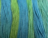 Green and Blue, size 20, approximately 40 yards.