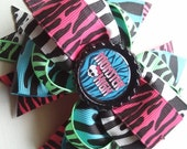 The Party Monster / Monster High Zebra Print Boutique Hair Bow