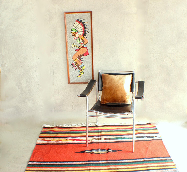 Vintage Kilim Rug Vintage Southwestern Woven By