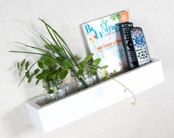 Box Shelf Wall Organizer - White - Vertical Garden, Toy Storage, Book Shelf, Bathroom Storage - 3001 Ways - 12 INCH