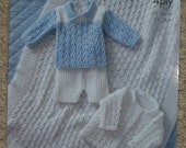 Baby Knitting Pattern K3114 Babies New Born Layette Knitting Pattern 3ply or 4ply King Cole