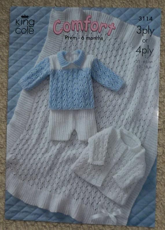 Baby Knitting Pattern K3114 Babies New Born by KnittingPatterns4U