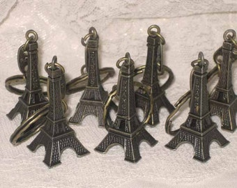 Eiffel Tower Key Chain Embellishment from Paris France Authentic Champs Elysees Metal Eiffel Tower ECS