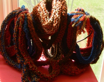 Knit Scarf, Rope Cowl, Loop, Chain, Infinity, Artisan, 7301, 7303, 7304
