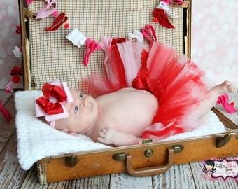 Valentines Day Tutu, Valentine's Day Tutu, red tutu, toddler tutu, Baby's Valentines Day Outfit, Valentines Day Baby Outfit, Valentines Tutu