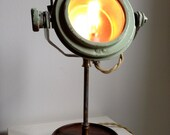 SALE Nautical Industrial, Vintage, MidCentury, Spotlight Edison Task Lamp