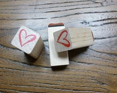 Heart Crayon Rubber Stamp