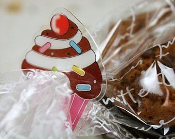 Cupcake Cookie Bread Plastic Clip Tie