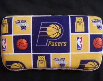 Gold and Blue Indiana Pacers Baby Wipes Case