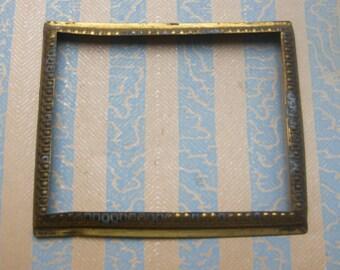 Vintage brass frame,plate,decor,hardware.
