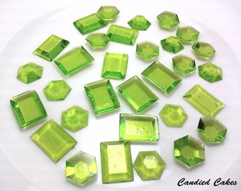 125 LIME EDIBLE SUGAR Jewels - Featured in Brides Magazine