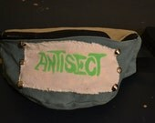 Studded Green Canvas Fanny Pack