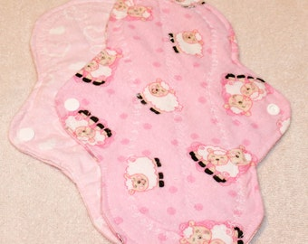 Two, 10 inch Washable Menstrual Pads